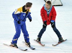 private ski lessons in english french alps megeve france