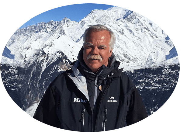 Professional english american ski instructor Mike Beaudet Megeve French Alps