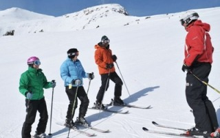 ski group lessons in english megeve french alps france