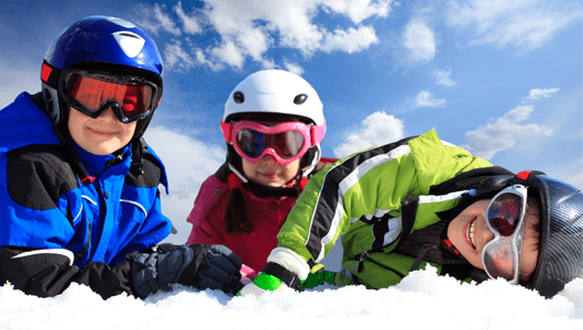 Ski lessons for children in english megeve french alps kids 1