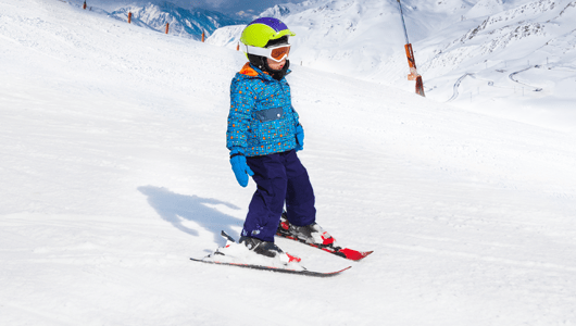 American British Ski school lessons for children in english megeve french alps kids 2