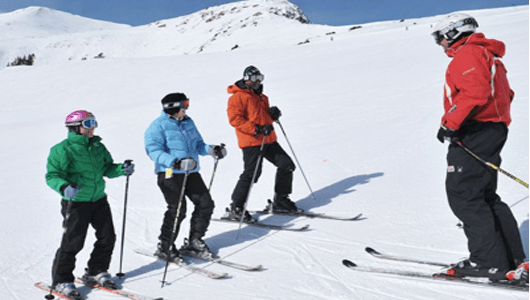 Private American and British Ski School lessons in english Megeve French Alps 1