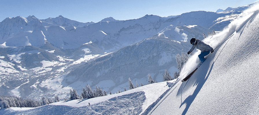 english ski lessons french alps megeve january