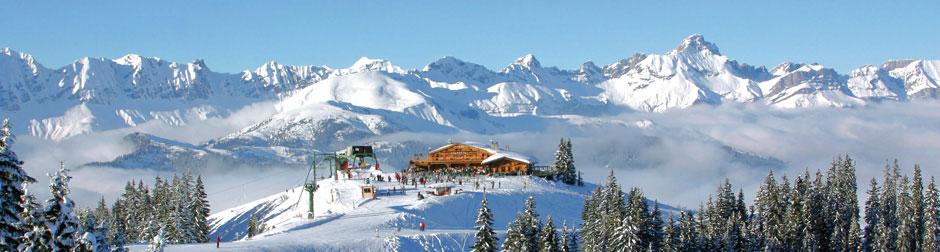 Megeve ski resort mont blanc french alps