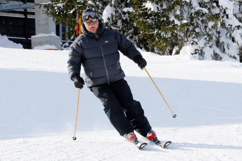 Mike Beaudet fluent english american ski instructor megeve french alps