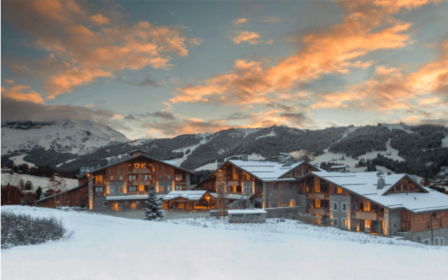 Skiing at Four Season Hotel Megeve French Alps