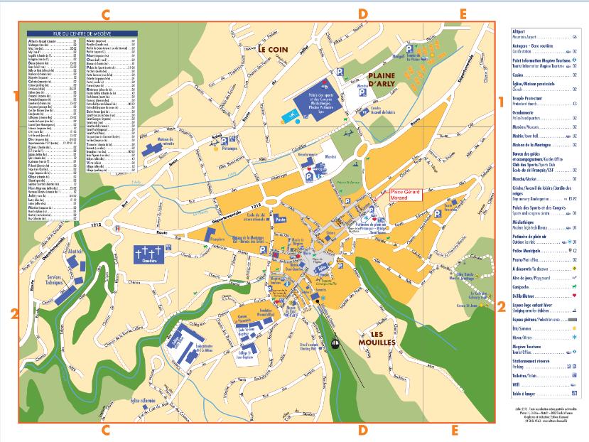 plan of megeve